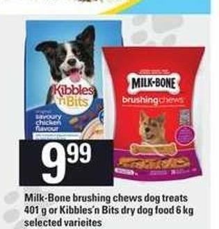 Milk-bone Brushing Chews Dog Treats - 401 G Or Kibbles'n Bits Dry Dog Food - 6 Kg