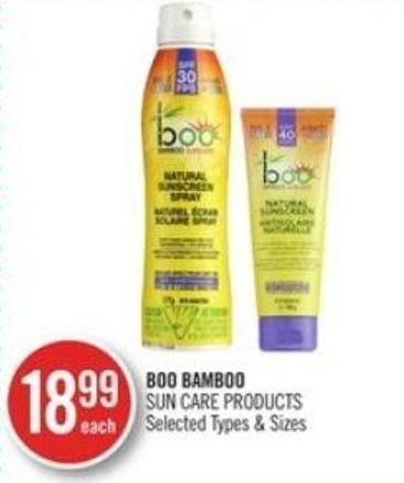 Boo Bamboo Sun Care Products