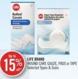 Life Brand Wound Care Gauze - Pads or Tape