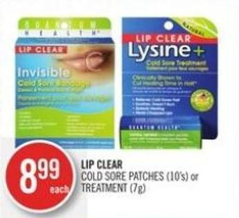 Lip Clear Cold Sore Patches (10's) or Treatment (7g)