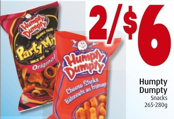 Humpty Dumpty Snacks 265-280g