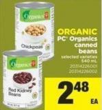 PC Organics Canned Beans - 540 Ml