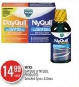 Vicks Dayquill Or Nyquill Products