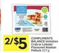 Compliments Balance Imitation Crab or Lobster Flavoured Alaskan Pollock 227 g