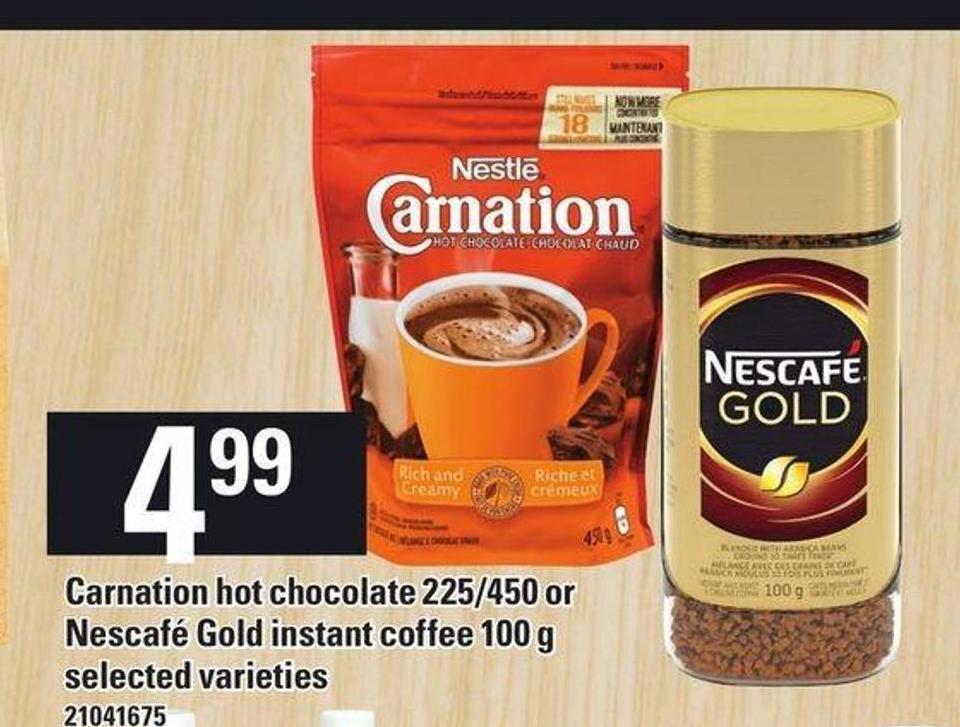 Carnation Hot Chocolate - 225/450 or Nescafé Gold Instant Coffee - 100 g