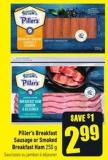 Piller's Breakfast Sausage or Smoked Breakfast Ham 250 g