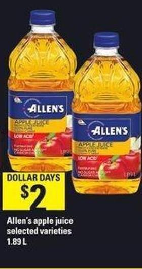 Allen's Apple Juice - 1.89 L