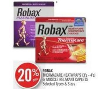 Robax Thermacare Heatwraps (3's - 4's) or Muscle Relaxant Caplets