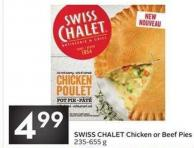 Swiss Chalet Chicken or Beef Pies