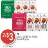 PC 100% Juices 5 X 200ml