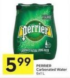Perrier Carbonated Water 6x1 L