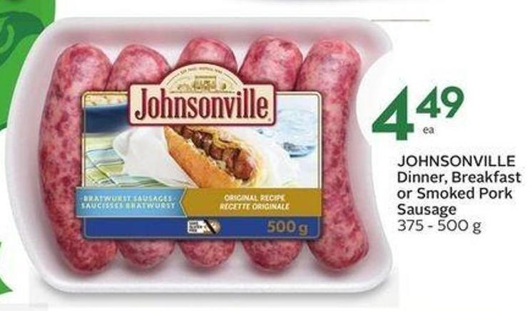 Johnsonville Dinner - Breakfast or Smoked Pork Sausage