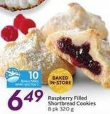 Raspberry Filled Shortbread Cookies 8 Pk 320 g  10 Air Miles Bonus Miles
