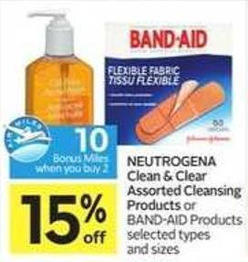Neutrogena Clean & Clear Assorted Cleansing Products - 10 Air Miles Bonus Miles