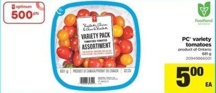 PC Variety Tomatoes - 681 G