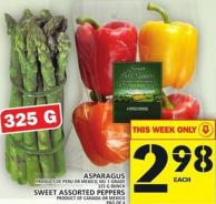 Asparagus Product Of Peru Or Mexico - No. 1 Grade 325 G Bunch Or Sweet Assorted Peppers Product Of Canada Or Mexico Pkg Of 4