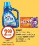 Bounce Sheets (70's - 80's) - Downy Fabric Softener (1.02l) or Purex Laundry Detergent (1.47l)