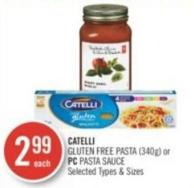 Catelli Gluten Free Pasta (340g) or PC Pasta Sauce