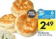Tea Biscuits 6 Pk 325-350 g 6 Air Miles Bonus Miles