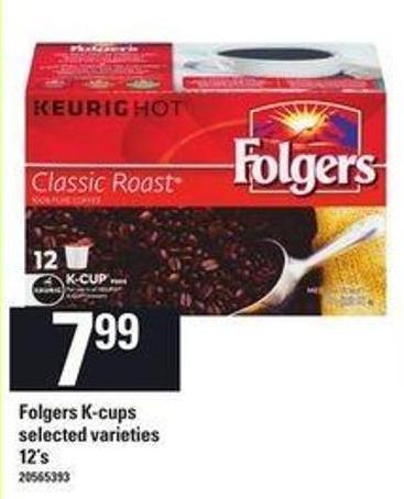 Folgers K-cups - 12's