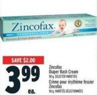 Zincofax Diaper Rash Cream 50 g