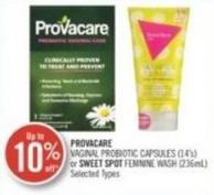 Provacare Vaginal Probiotic Capsules (14's) or Sweet Spot Feminine Wash (236ml)