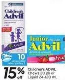 Children's Advil Chews 20 Pk or Liquid 24-120 mL - 10 Air Miles Bonus Miles