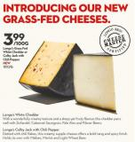 Longo's Grass Fed  White Cheddar or  Colby Jack With Chili Pepper