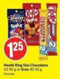 Nestlé King Size Chocolates 63-90 g or Snax 40-50 g