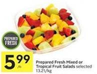 Prepared Fresh Mixed or Tropical Fruit Salads