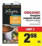 Organic Imagine Organic Broth - 1 L