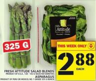 Fresh Attitude Salad Blends Or Asparagus
