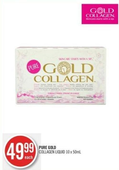 Pure Gold Collagen Liquid 10 X 50ml