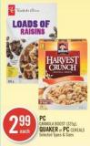 PC Granola Boost (325g) - Quaker or PC Cereals