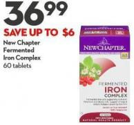 New Chapter  Fermented  Iron Complex 60 Tablets