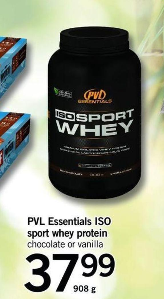 Pvl Essentials Iso Sport Whey Protein - 908 G