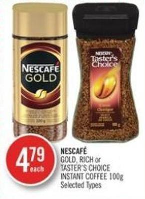 Nescafé Gold - Rich or Taster's Choice Instant Coffee