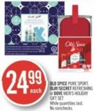 Old Spice Pure Sport - Olay/secret Refreshing or Dove Men's Holiday Gift Set