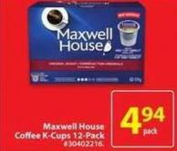 Maxwell House Coffee K-cups 12-pack
