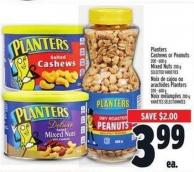 Planters Cashews Or Peanuts 200 - 600 g Mixed Nuts 200 g