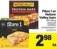 Fibre 1 Or Nature Valley Bars - 125-190 g