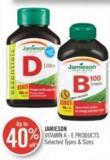 Jamieson Vitamin A - E Products