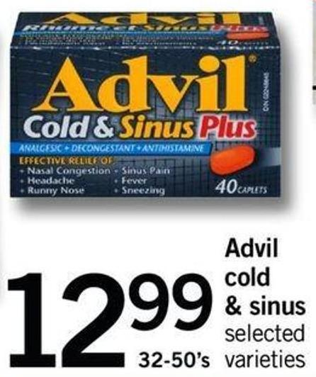 Advil Cold & Sinus - 32-50's