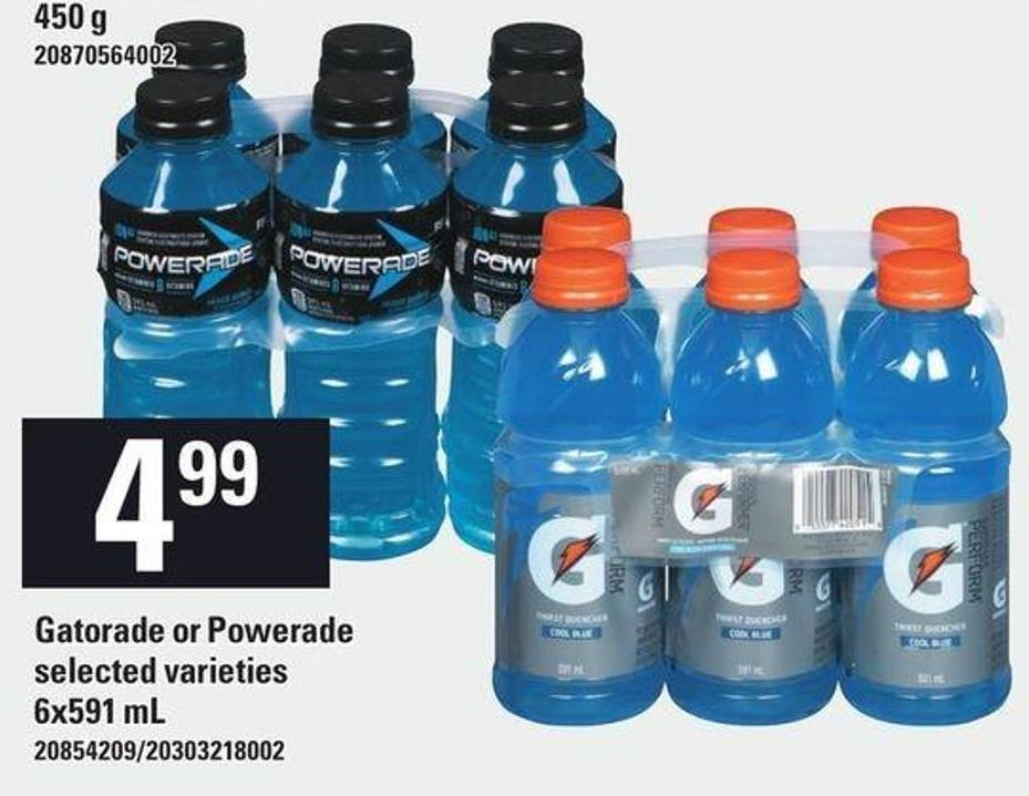 Gatorade Or Powerade - 6x591 mL