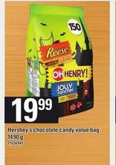 Hershey's Chocolate Candy Value Bag - 1490 g