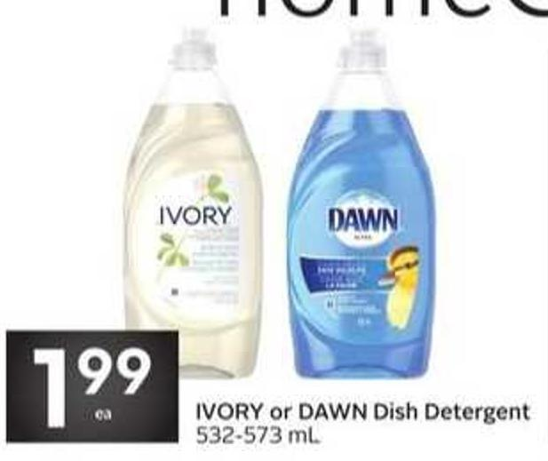 Ivory or Dawn Dish Detergent