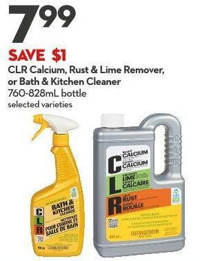 Clr Calcium - Rust & Lime Remover - or Bath & Kitchen Cleaner 760-828ml Bottle