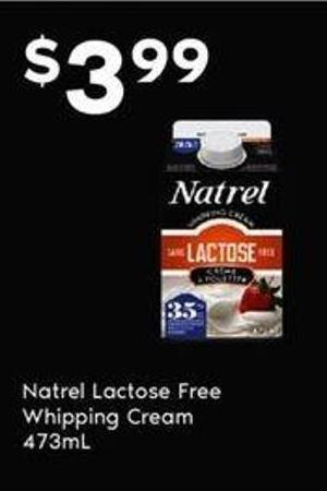 Natrel Lactose Free Whipping Cream