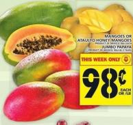 Mangoes Or Ataulfo Honey Mangoes Or Jumbo Papaya