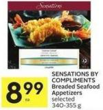 Sensations By Compliments Breaded Seafood Appetizers Selected 340-355 g